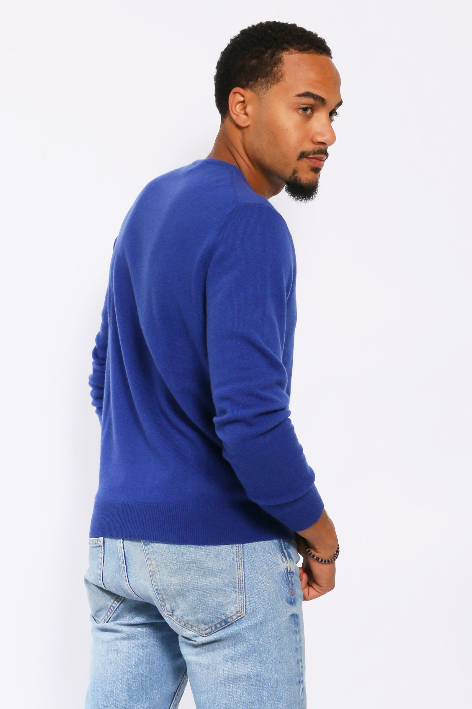 Pull 100% cachemire col rond coupe droite DIEGO GARCIA
