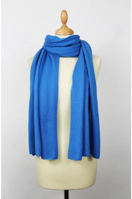 Echarpe cachemire Chesselyte bleu azur