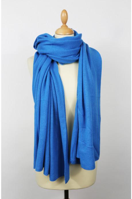 Etole cachemire Azurite bleu azur