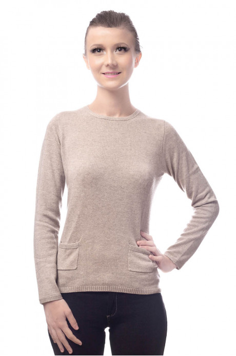 Pull cachemire femme CHAKHTY beige