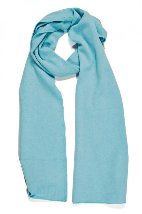 écharpe bleu électrique cachemire pur femme