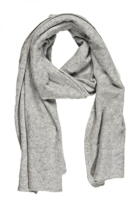Echarpe gris cachemire