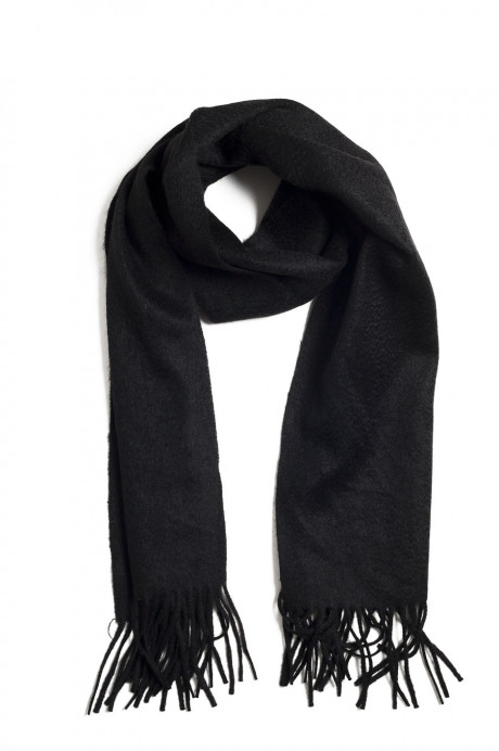 Echarpe noir 100% cachemire (homme et femme)