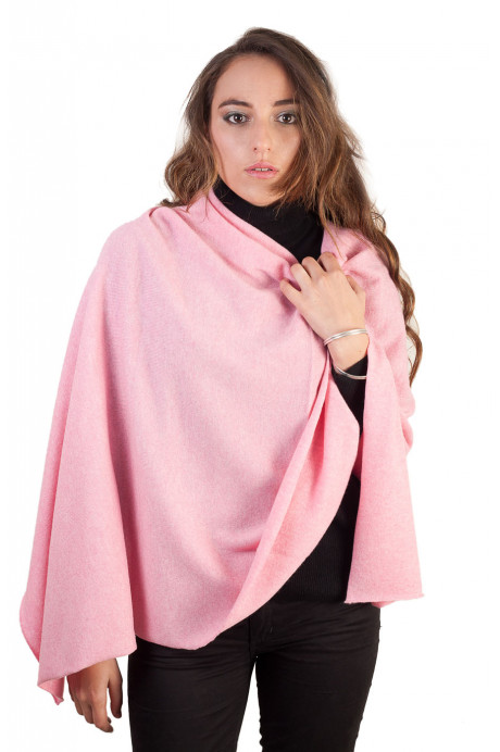 Poncho cachemire femme rouge ou rose Brazil