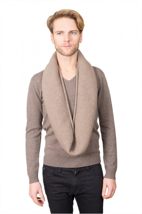 SNOOD CACHEMIRE PUR HOMME