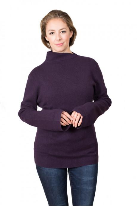 Pull cachemire pour femme au col asymétrique