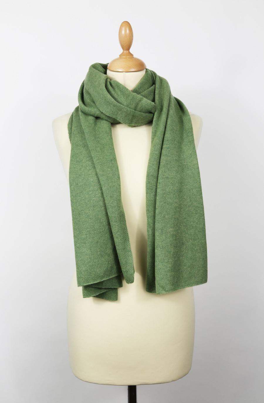 Echarpe cachemire GREEN vert