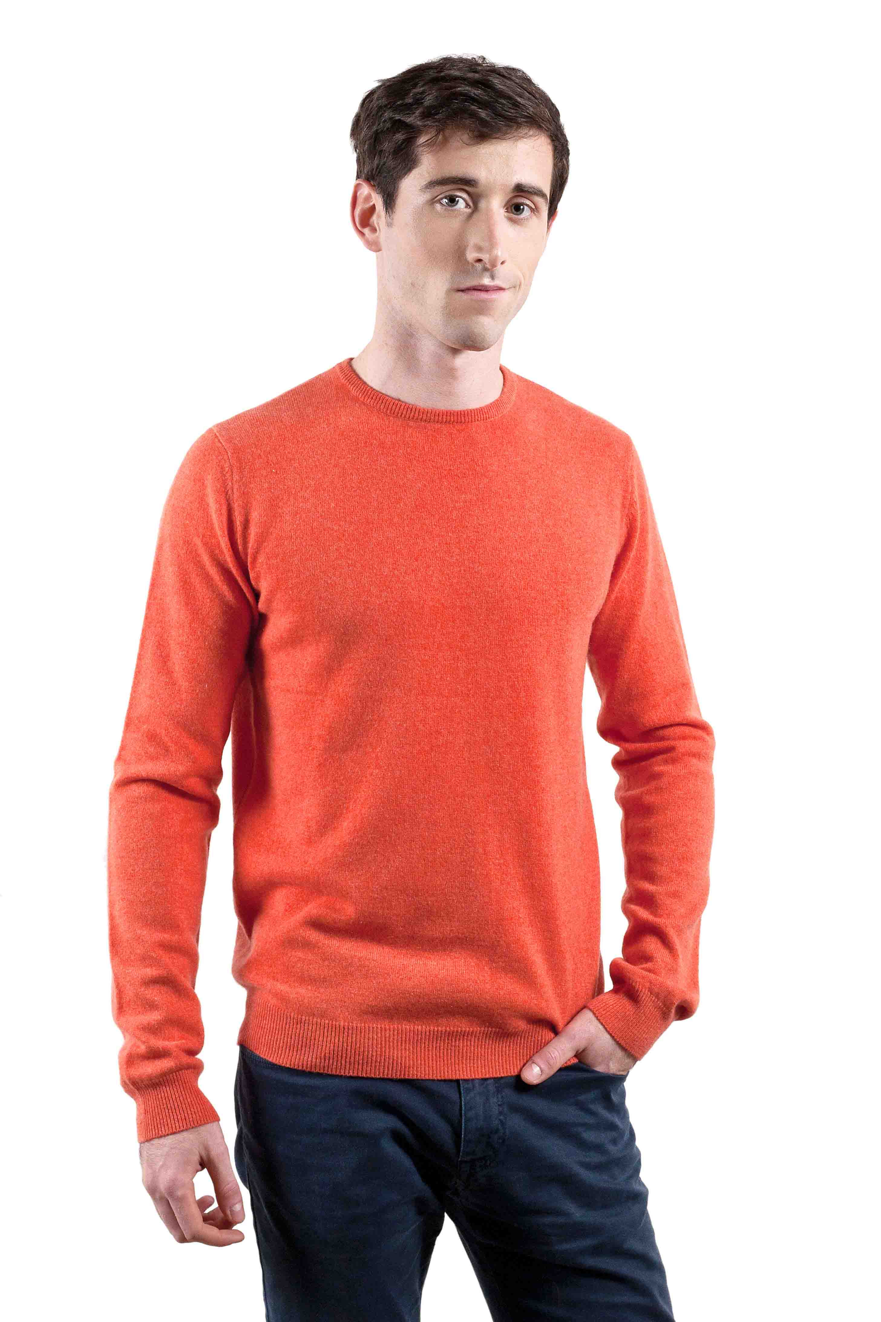 Pull cachemire homme orange Apollon