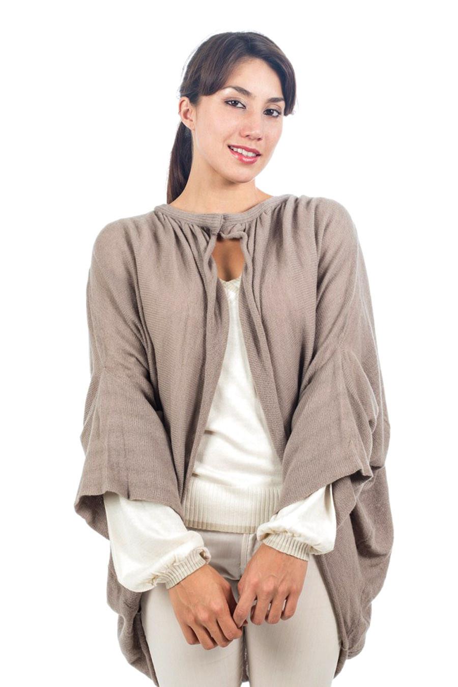Cape cachemire femme CHELSEA beige chiné