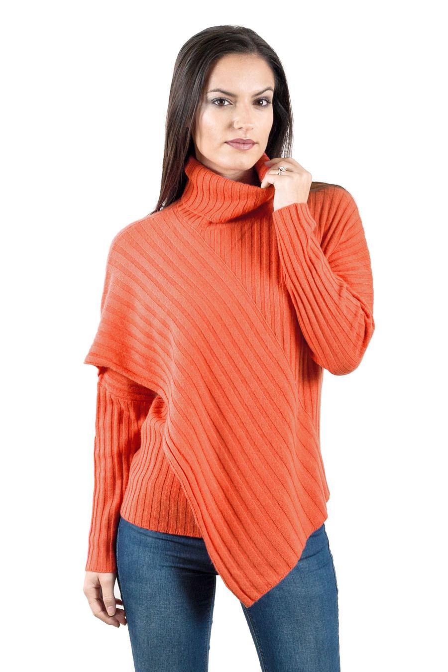 Pull yack femme KAILASH-orange-S