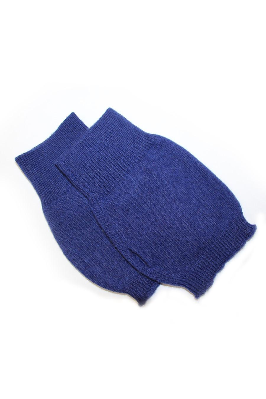 mitaines 100% cachemire bleu marine