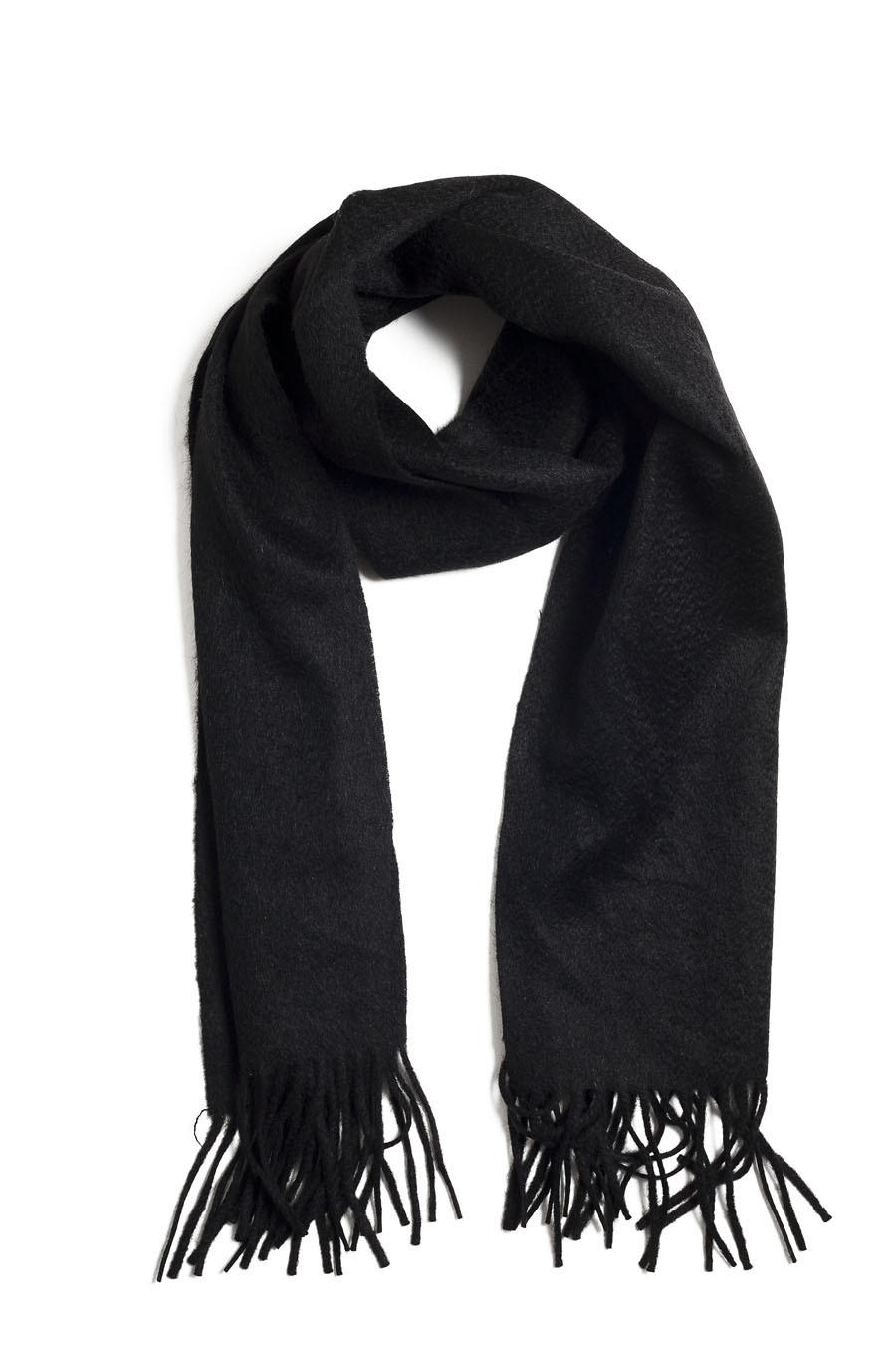 63fb6629fe Echarpe cachemire : Modèle BENALLA, cachemire laine 2 fils, noir