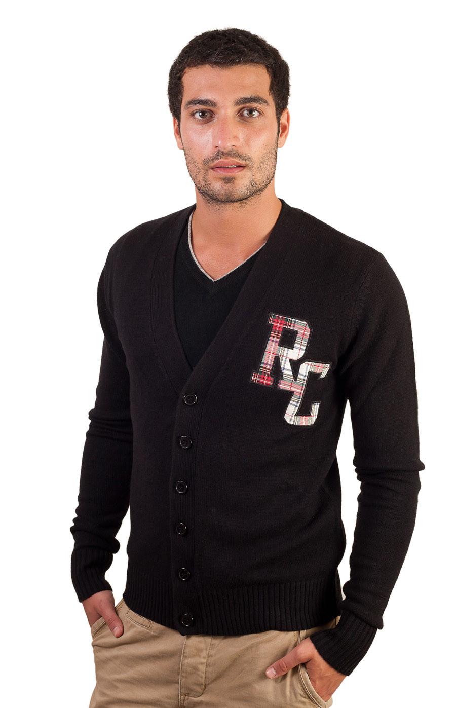 Gilet homme à col V en laine cachemire de la marque Rebel Cashmere
