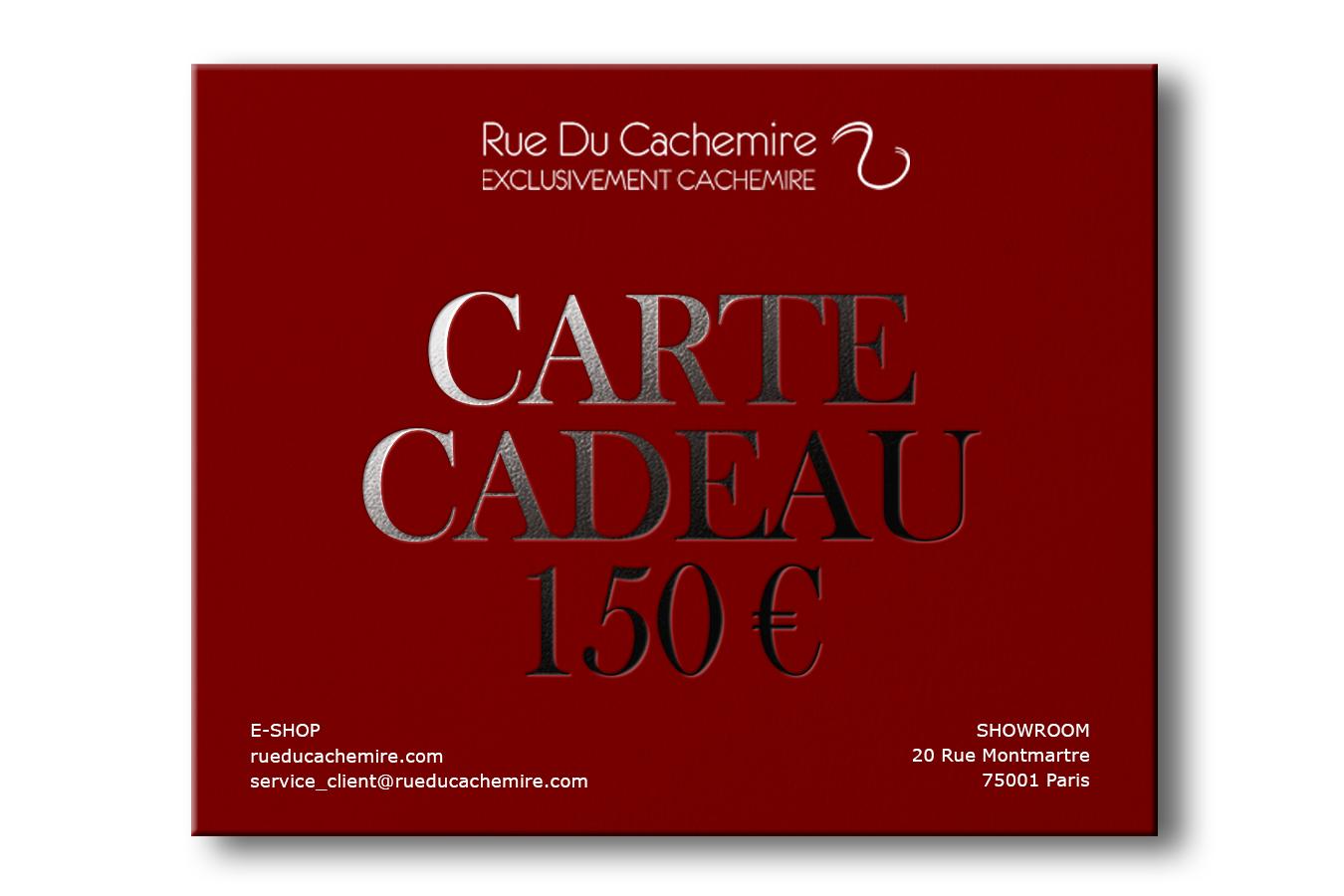 Carte cadeau cachemire 150 Euros