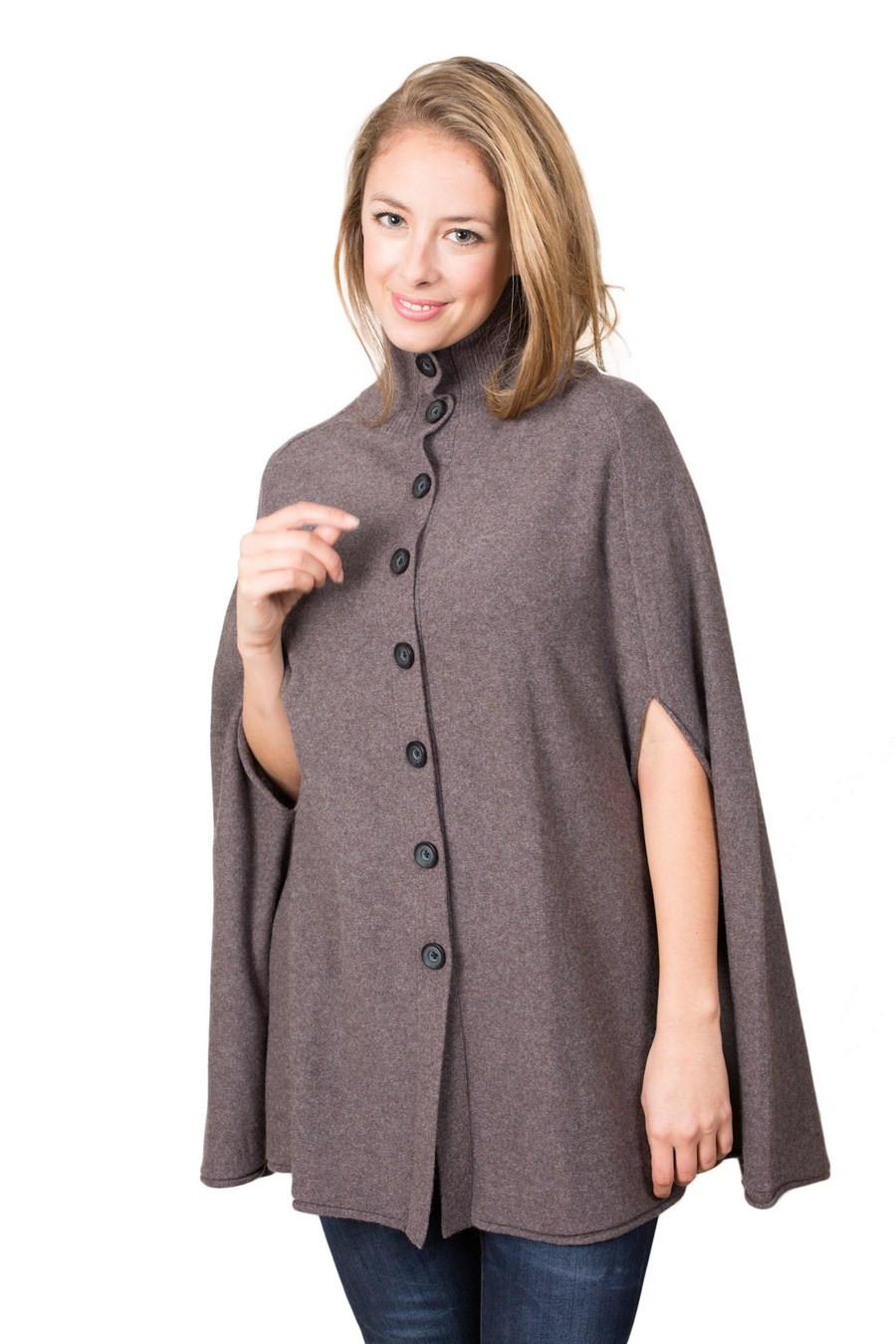 poncho cape pur cashmere femme