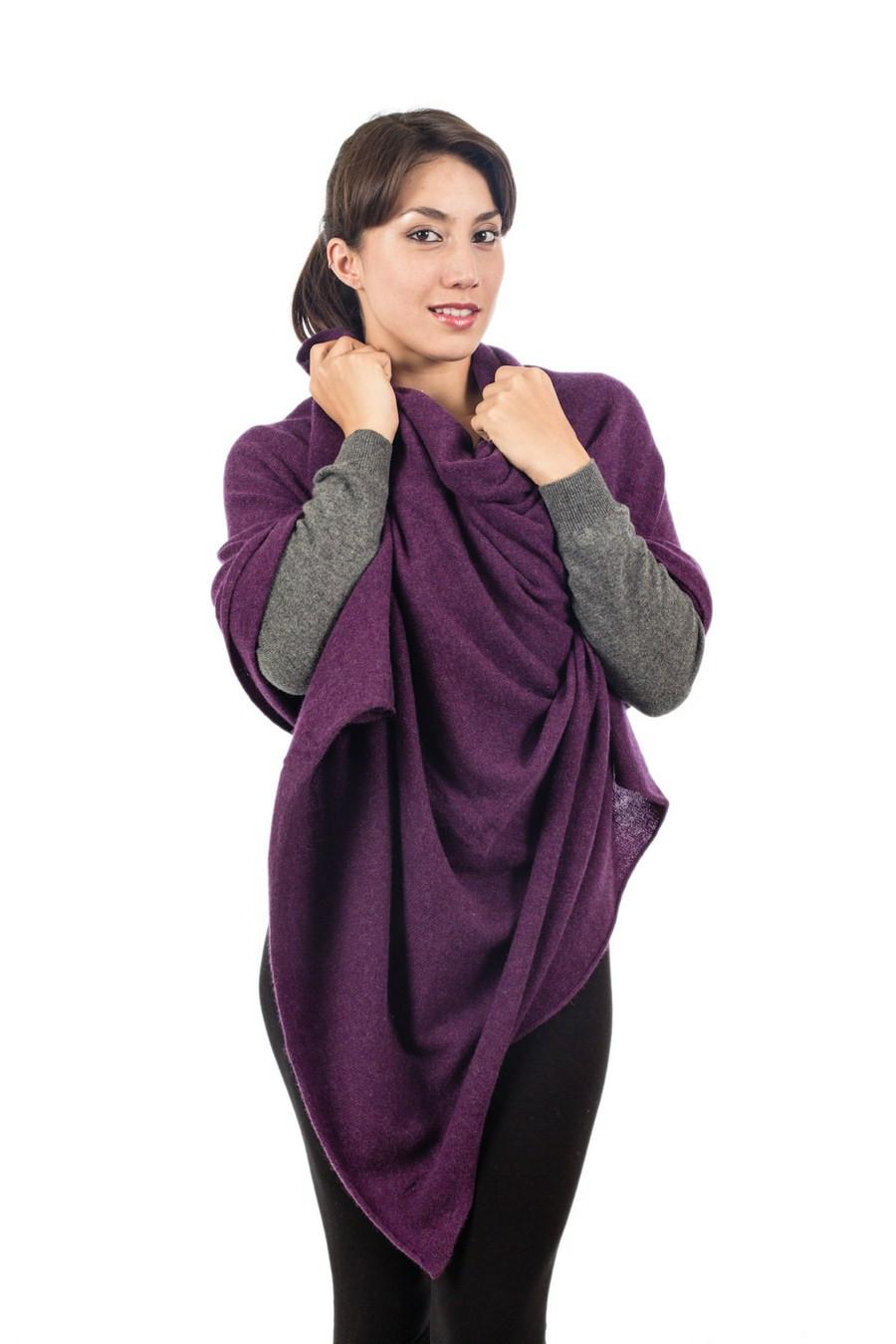 grande étole pure cashmere  coloré