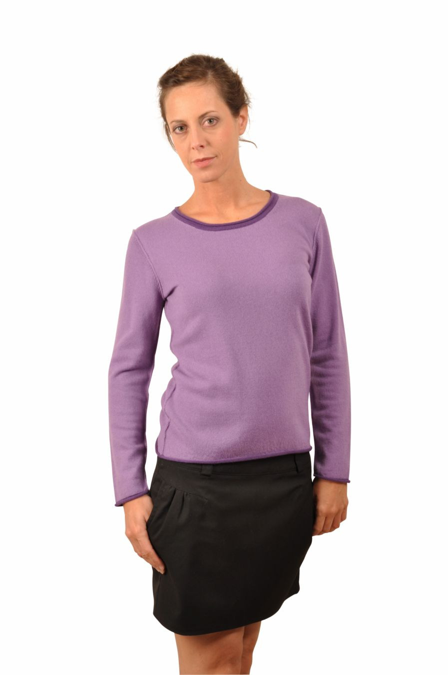 Pull cachemire femme ARIANE violet lilas