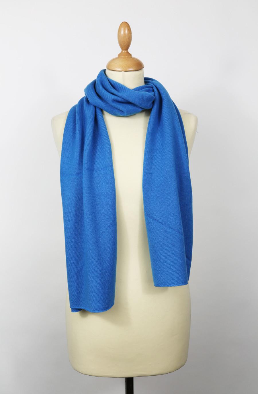Echarpe cachemire bleu azur CHRYSOCOLLE