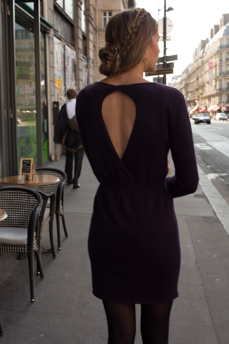 robe cachemire cache coeur dos