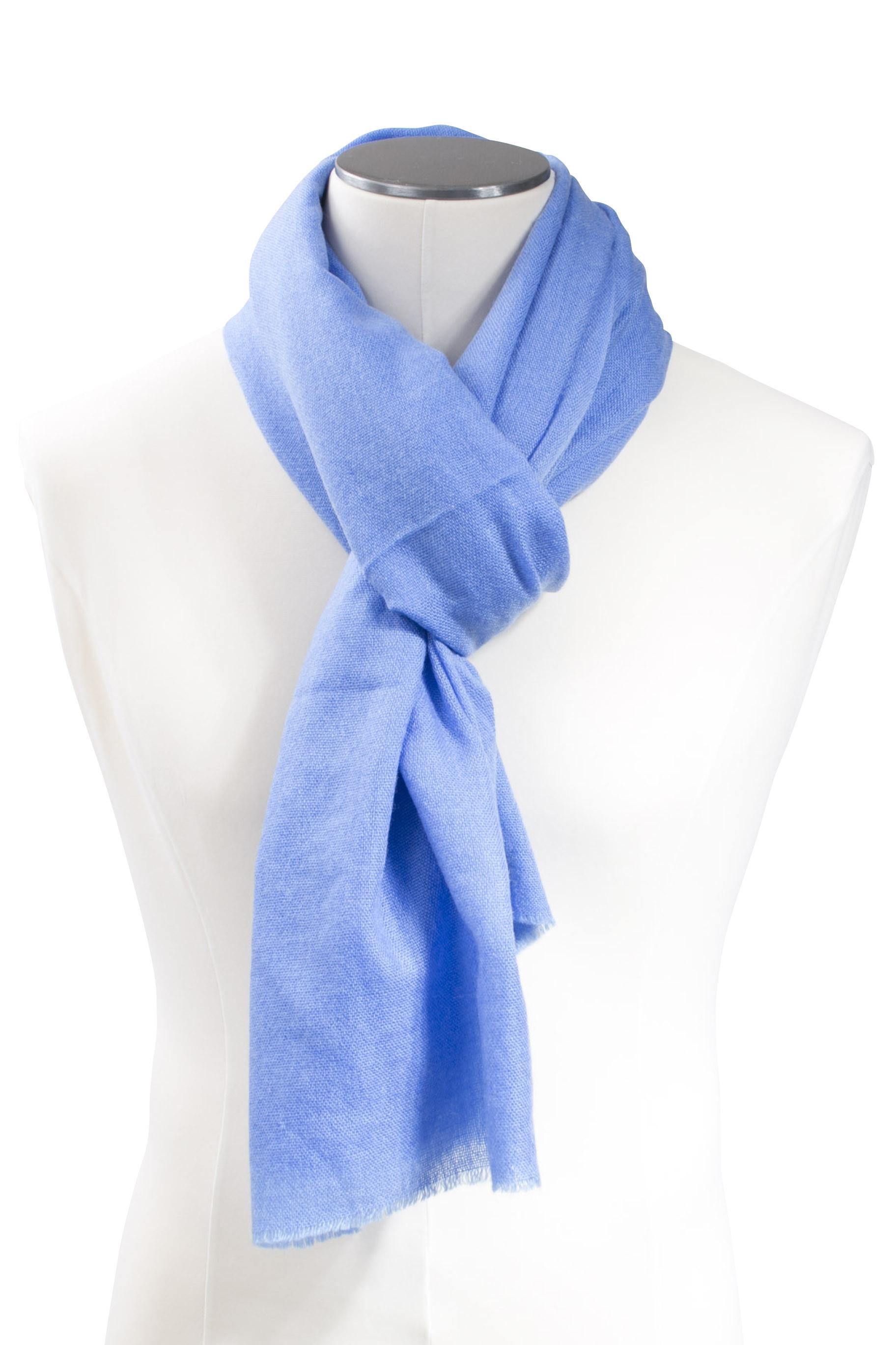 Etole bleu azure en voile de cachemire DIEGO GARCIA