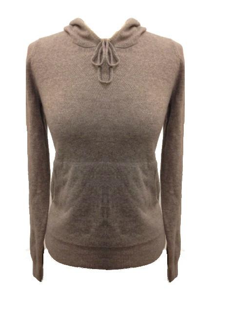 Pull à capuche femme CAPUCHINE-beige-XL