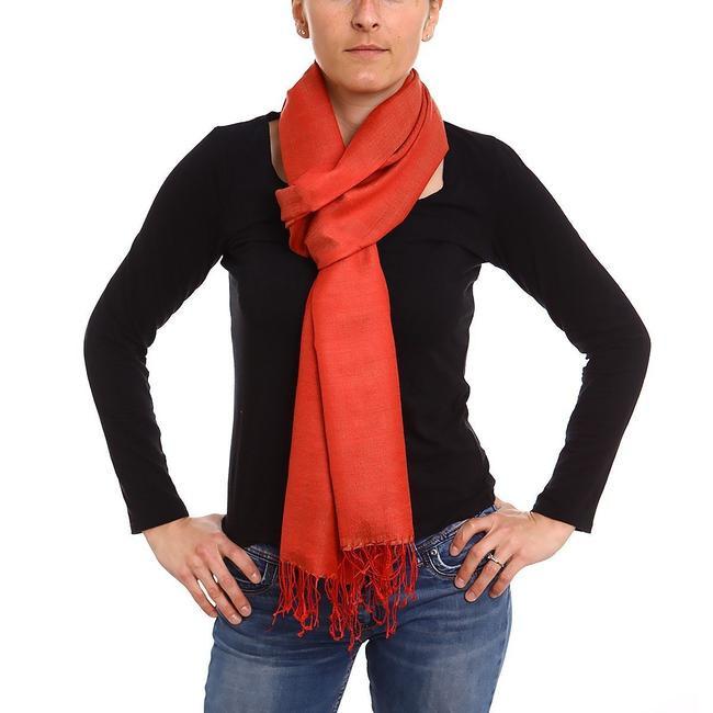 Echarpe soie et cachemire rouge- Le Comptoir de Simba