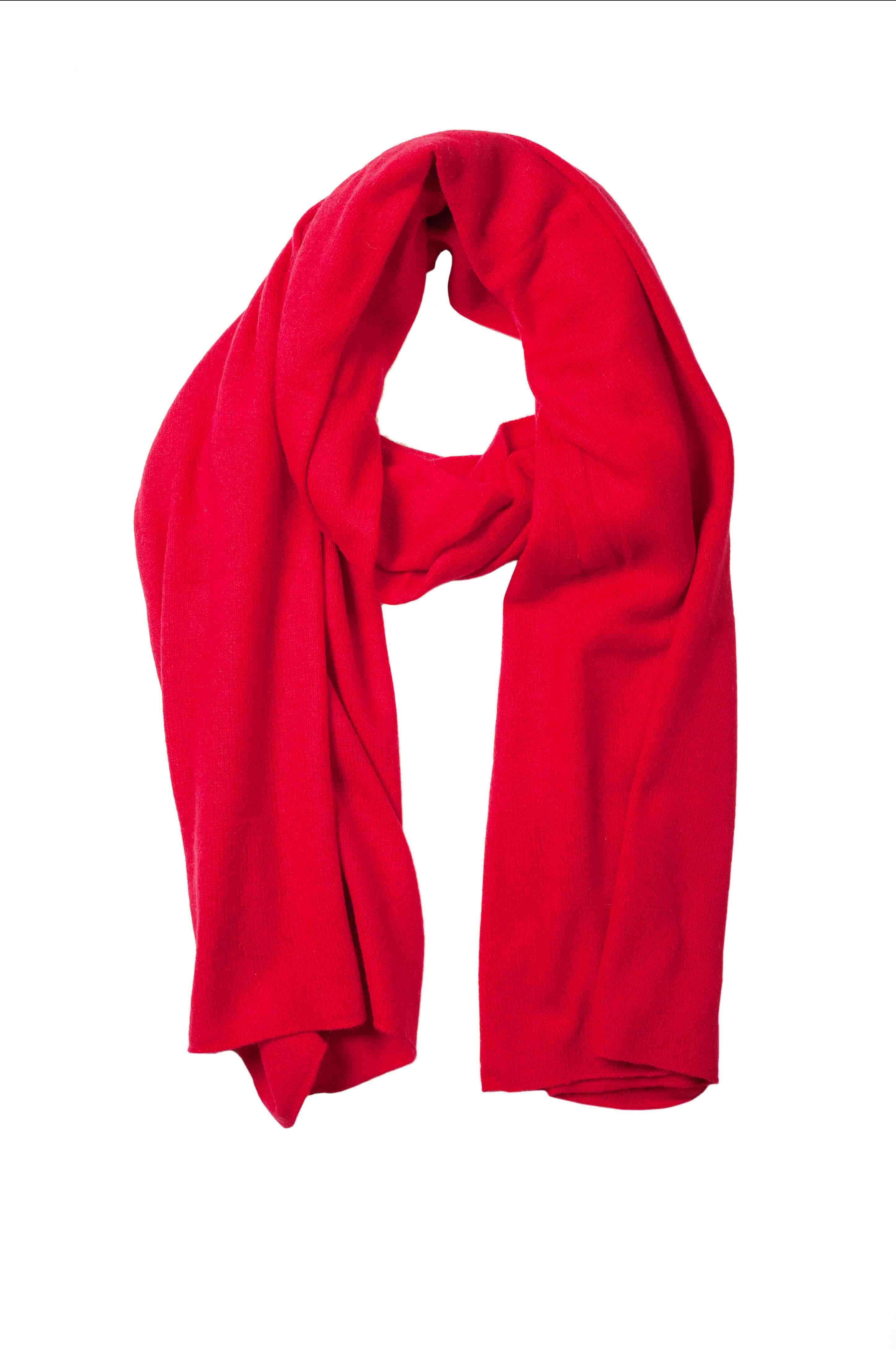 Etole cachemire femme FLAMME Rouge tango