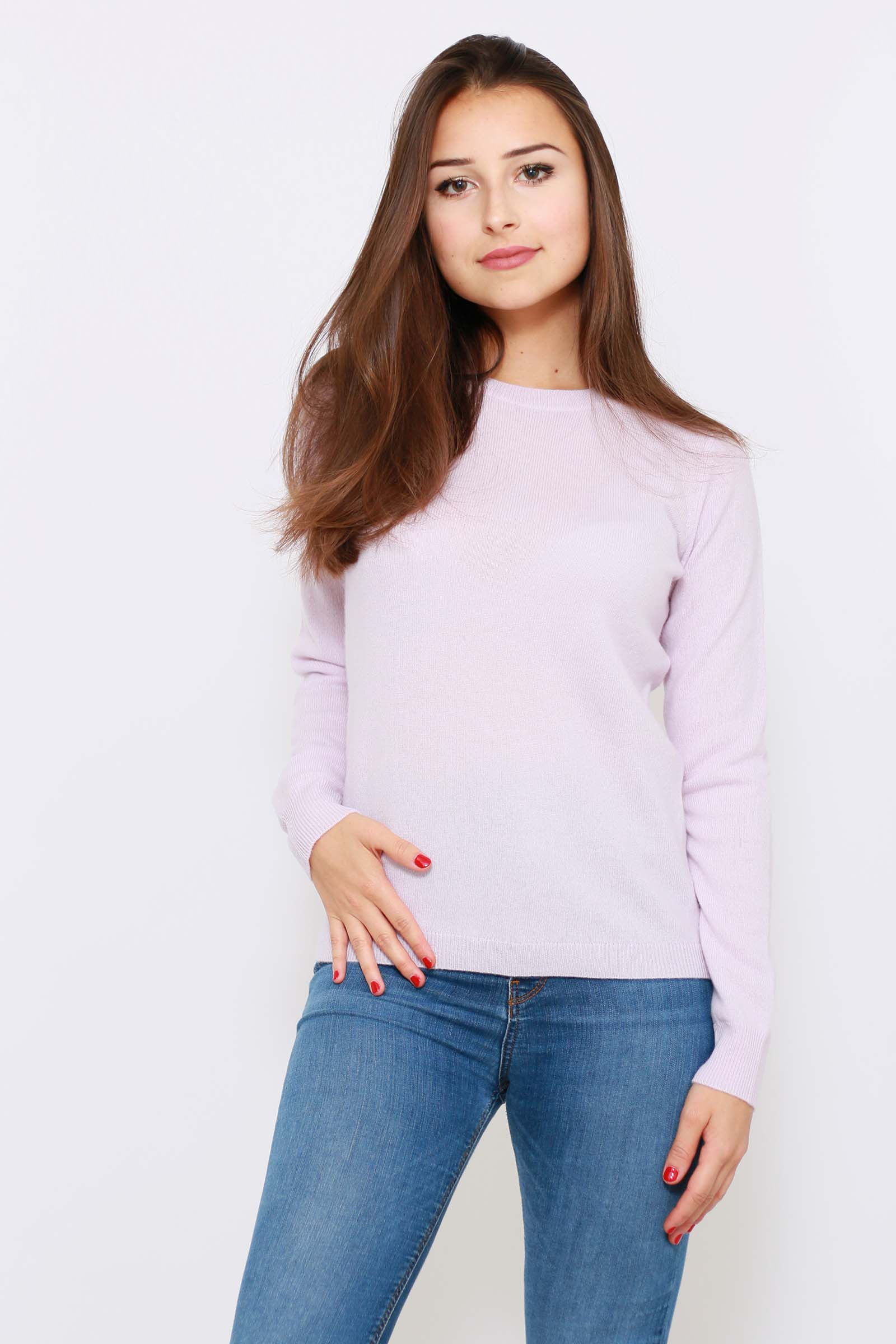Pull 100% cachemire col rond Femme DIEGO GARCIA