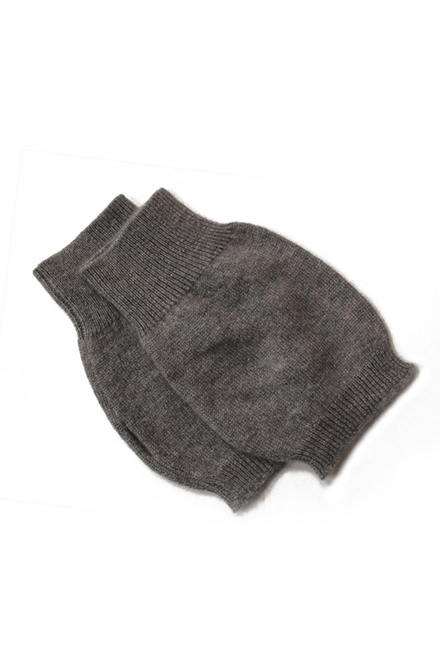 mitaines 100% cachemire gris