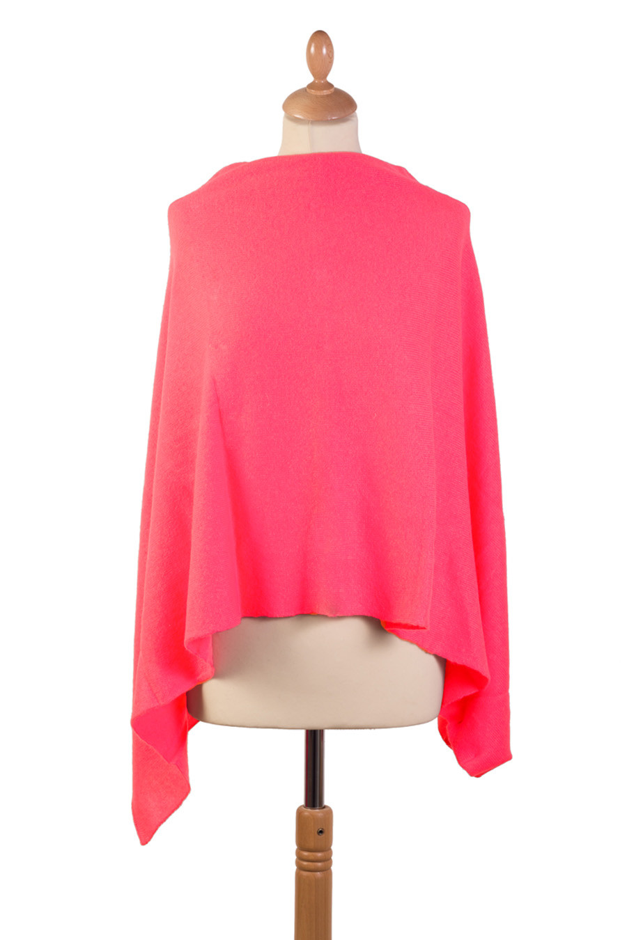 Poncho cachemire ORPHEE  rose orchidée