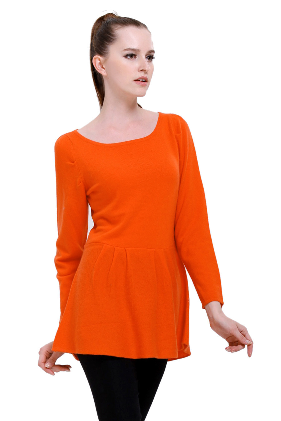 Pull yack femme SANKAR orange pop