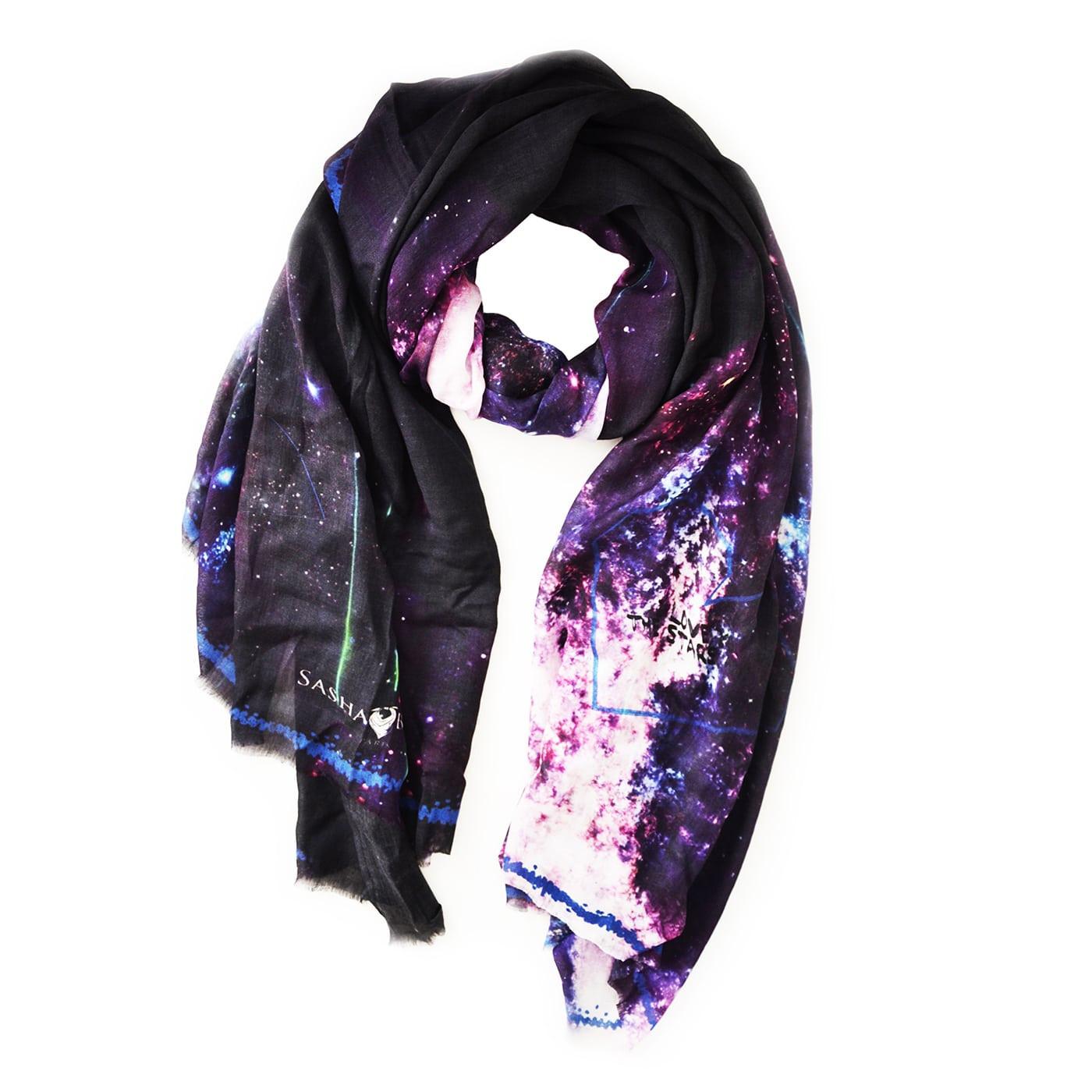 Echarpe modal cachemire GALAXY-violet