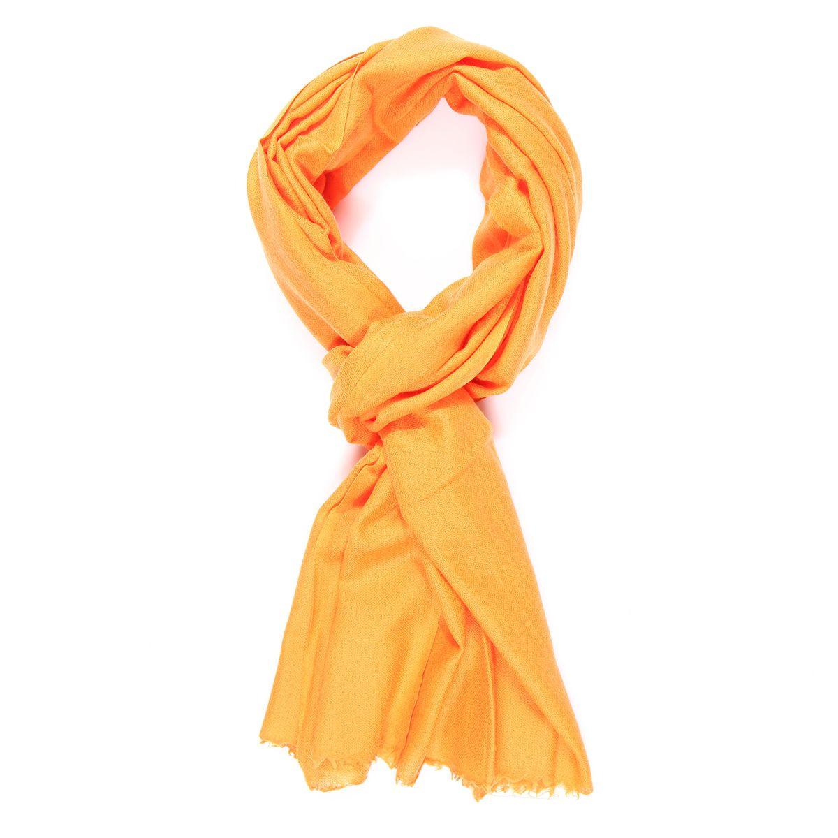 Echarpe cachemire orange pale - Surate - Le Comptoir de Simba