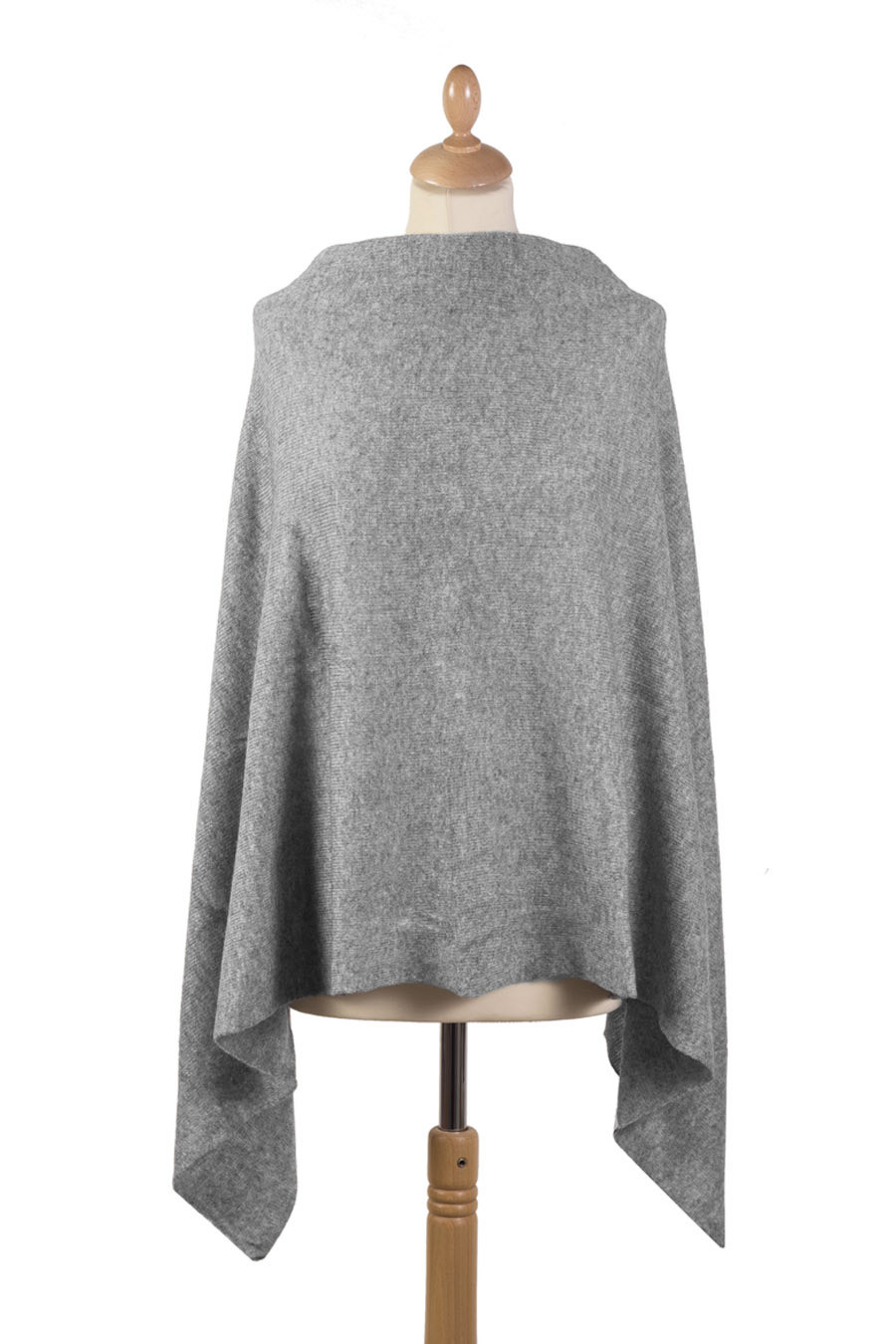 Poncho cachemire SYRMA Gris chiné