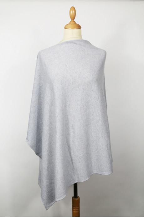 Cashmere poncho BYBLOS Mocked pastel blue