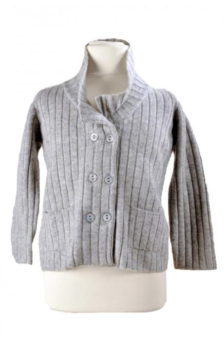 Gilet vest en cachemire gris pour enfant