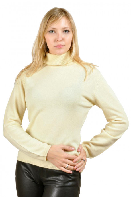 Grey turtle neck pullover 100% cashmere