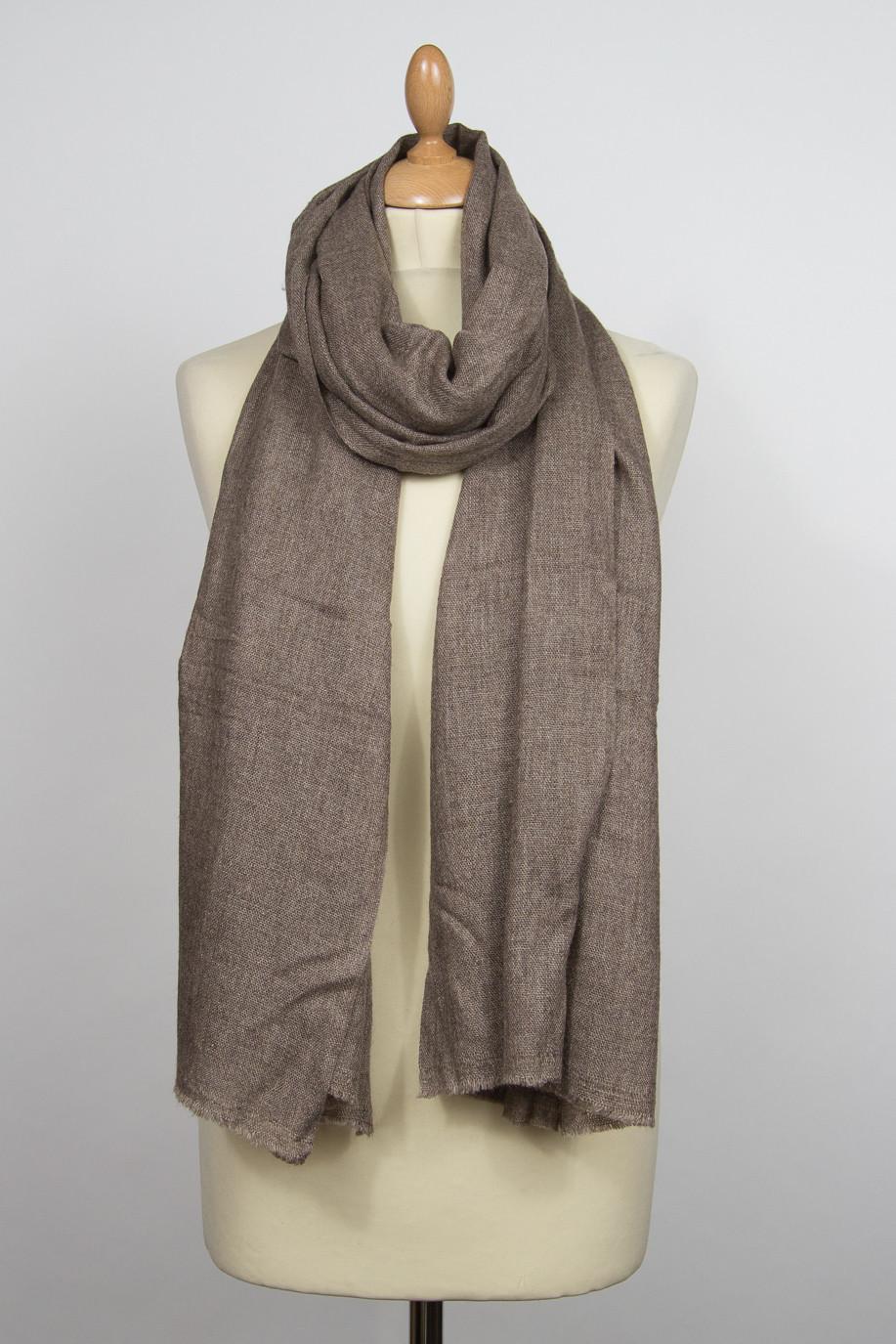 Pashmina cashmere scarf PARVALA taupe