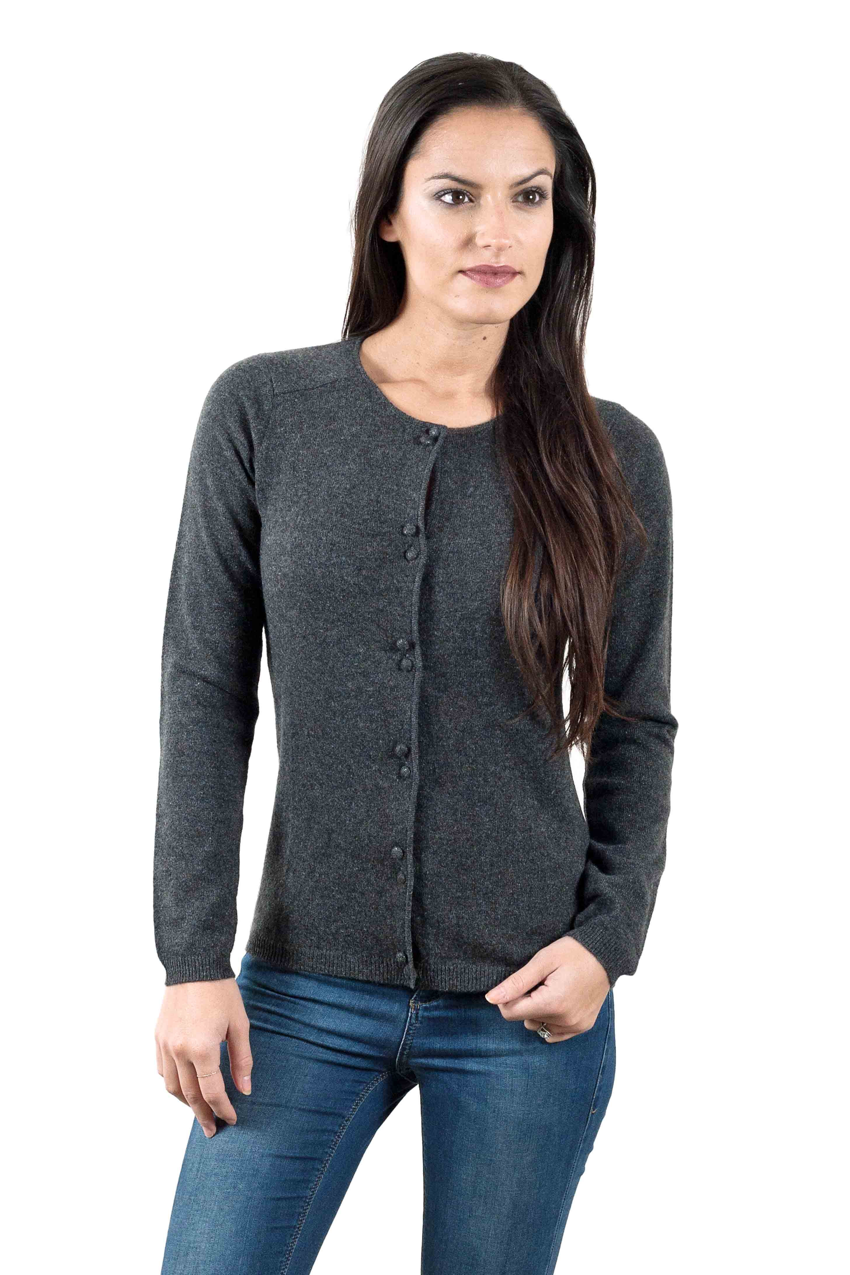 Cardigan cachemire femme Chayan gris