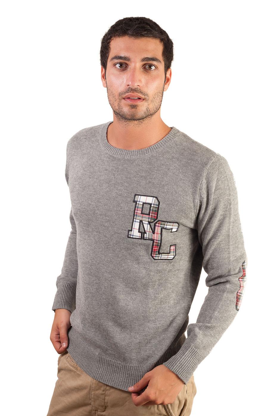 Pull laine et cachemire homme ROBERTSON gris devant