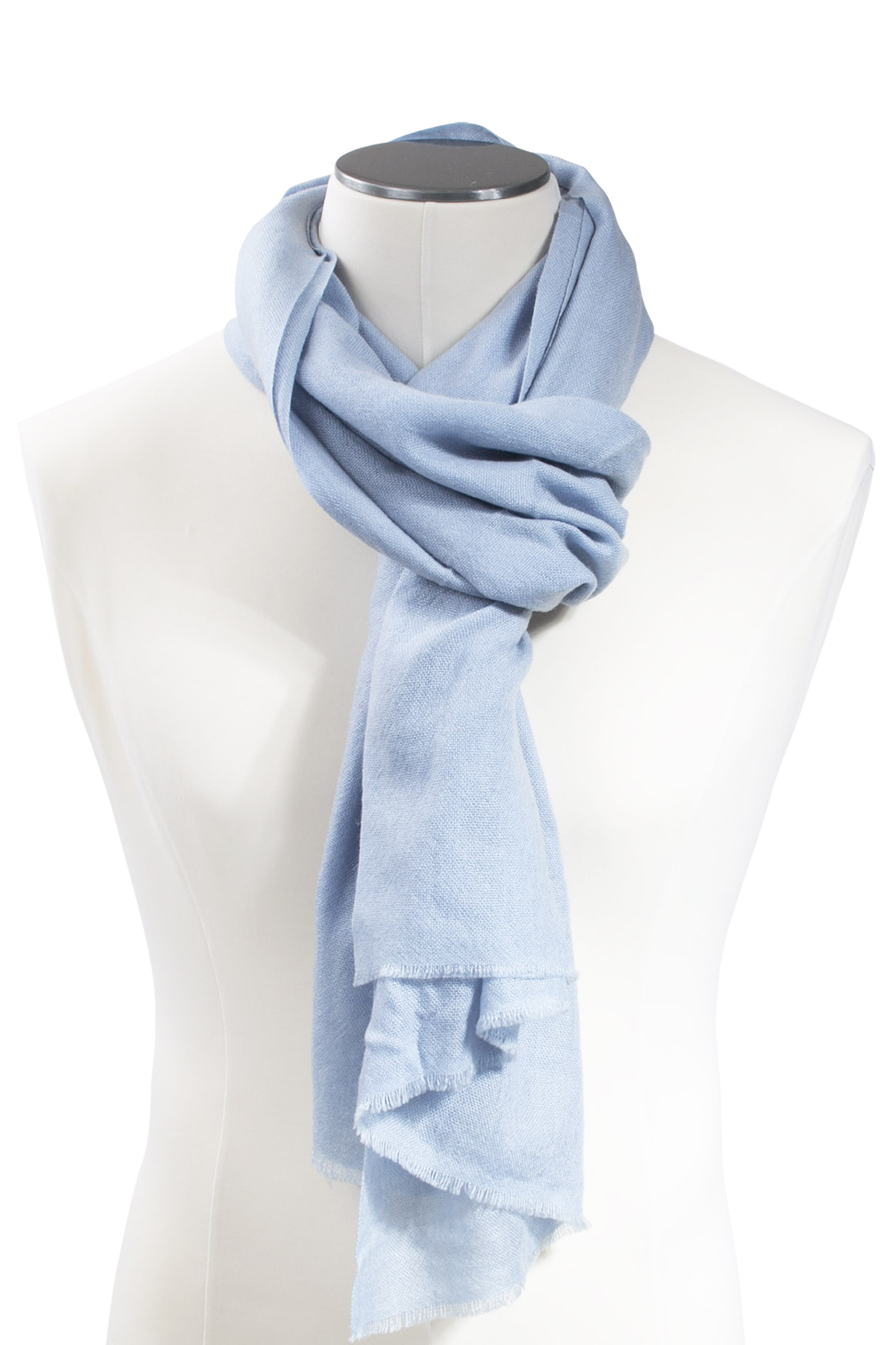 Cashmere Wrap & Stole Sky blue DIEGO GARCIA