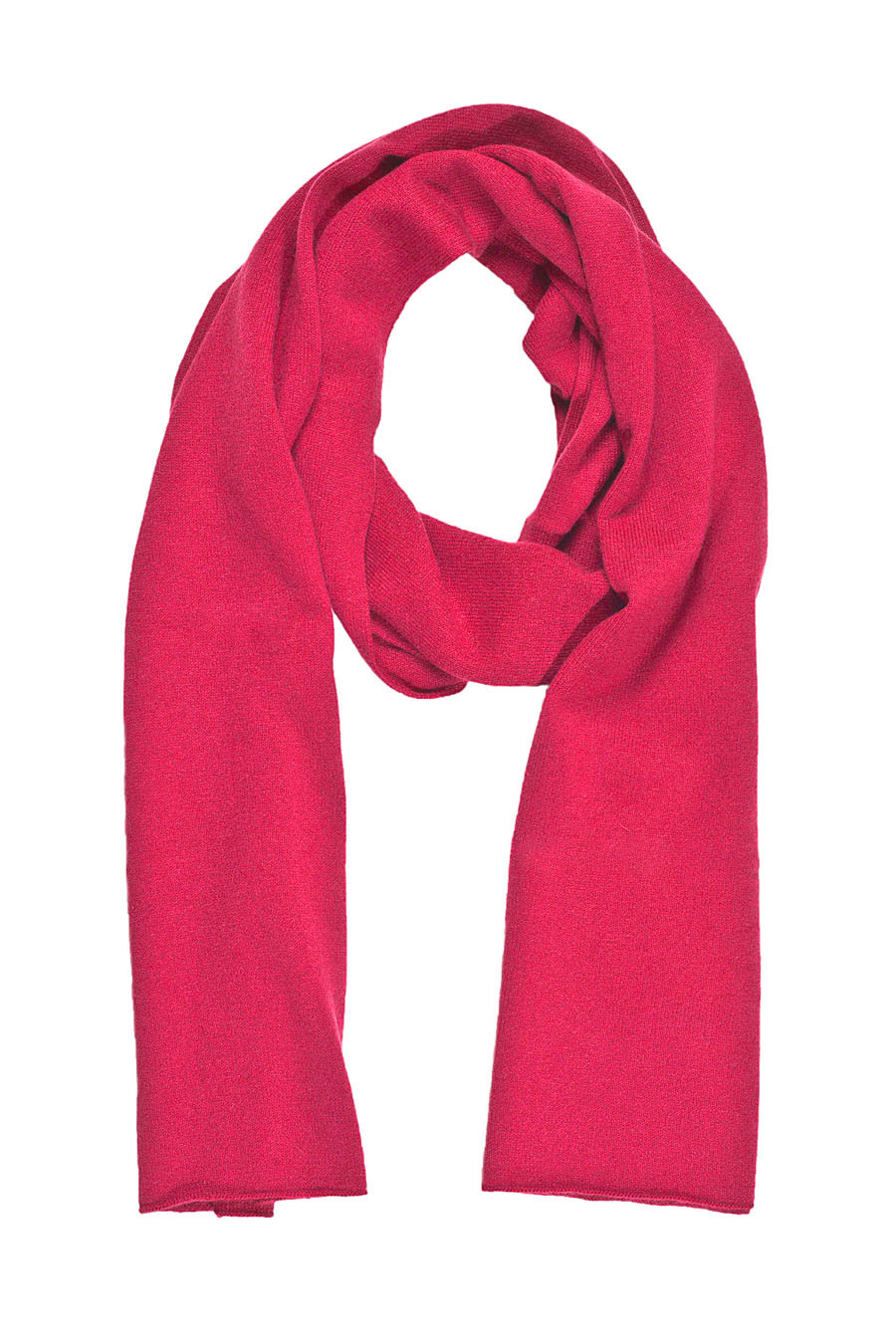 Echarpe cachemire NIKEA-rose-framboise