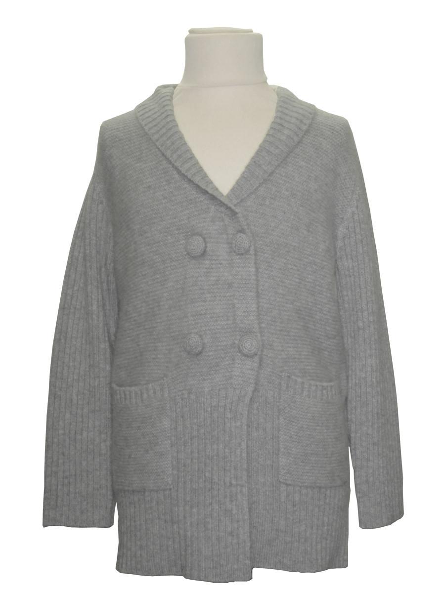 Manteau cachemire gris pour enfant