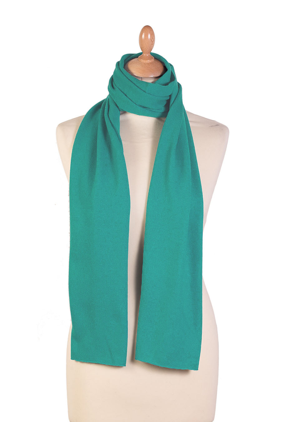 Cashmere scarf IMJA Turquoise blue