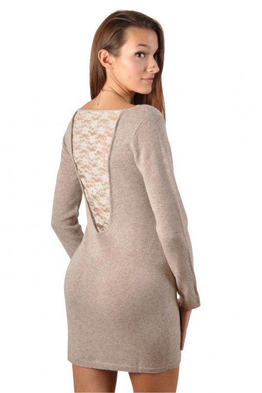 Cashmere Lace Dress GLORIA SEXY CACHEMIRE