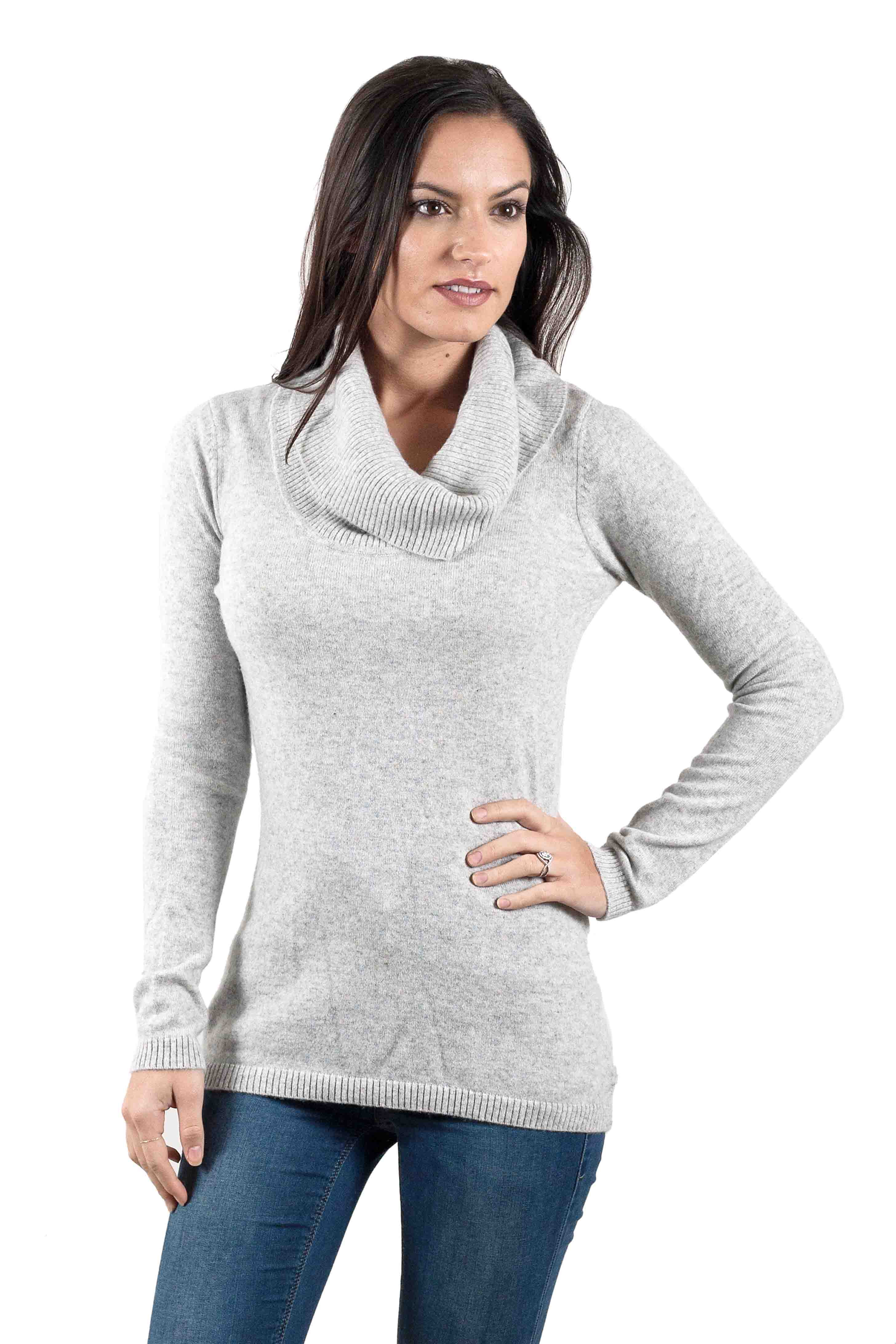 Pull cachemire femme WILLOW-gris-XL